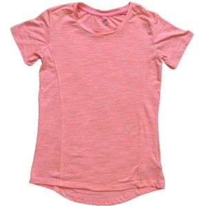 Girls 10/12 C9 by Champion Marbled Neon Pink Tee